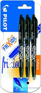 Pilot Frixion Erasable Rollerball Pen 0.7 mm Tip - Black, Pack of 3 £3.50 (Prime) + £4.49 (non Prime) at Amazon