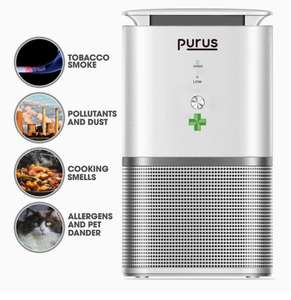 Purus Auto Air Purifier Air Cleaner for home with True HEPA & Active Carbon Filter at Amazon sold by Futura for £39.99