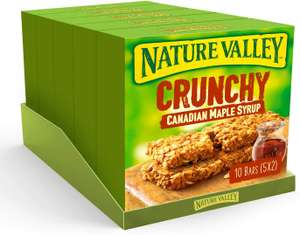 Nature Valley Crunchy Canadian Maple Syrup Cereal Bars 42g (Pack of 50 bars) (5 packs of 10 bars) £5 Prime / £9.49 Non Prime @ Amazon
