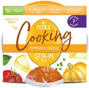 Piccolo Organic - Pumpkin and Cheese Stir-in Sauce - 7+ Months Stage 2 - 80g (Set of 12) £1.70 Amazon Prime / £6.19 Non Prime