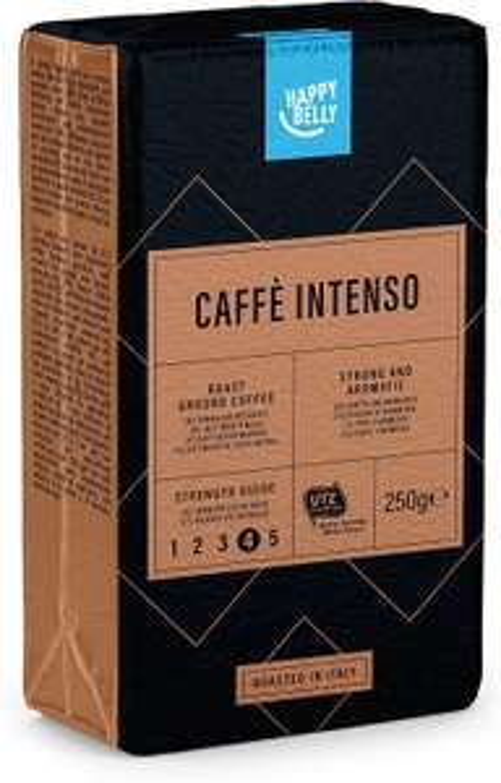 "Amazon Brand - Happy Belly Ground Coffee ""Caffè Intenso"" (4 x 250g), UTZ Certified, £6.99 Prime (£6.64 S&S) (+ £4.49 Non Prime) @ Amazon"