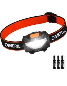 OMERIL LED Head Torch, Lightweight COB Headlamp with 3 Modes £5.99 Sold by AmSin and Fulfilled by Amazon Prime / £10.48 Non Prime