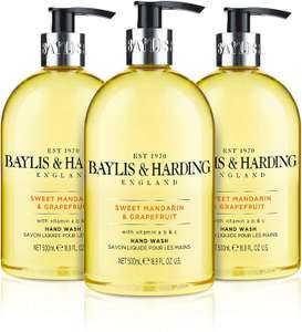 Baylis & Harding Sweet Mandarin and Grapefruit Hand Wash, 500 ml (Pack of 3) £4.50 at Amazon Prime (£4.28 with S&S) £8.99 Non Prime
