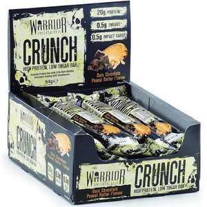 Warrior Crunch Protein Bars £11.38 + £2.99 at Bodybuilding Warehouse
