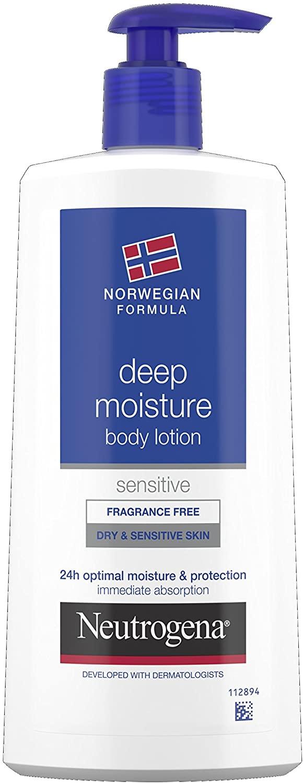 Neutrogena Norwegian Formula Deep Moisture Body Lotion Dry and Sensitive Skin 400ml £5 at Amazon Prime (£4.75 with S&S) / +£4.49 non Prime
