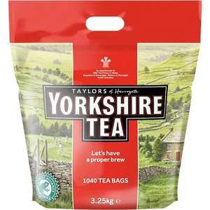 Yorkshire Tea Bags 3.25KG (1040 bags) £18.39 / £21.87 delivered - Free Delivery if spending over £30 @ Viking Direct