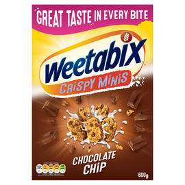 2 x Weetabix Crispy Minis Chocolate Chip 600g (see OP for others in offer) £4 @ Iceland