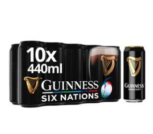 Guinness 10 x 440ml 2 for £16 @ Morrisons (Min basket £40 + up to £5 delivery)