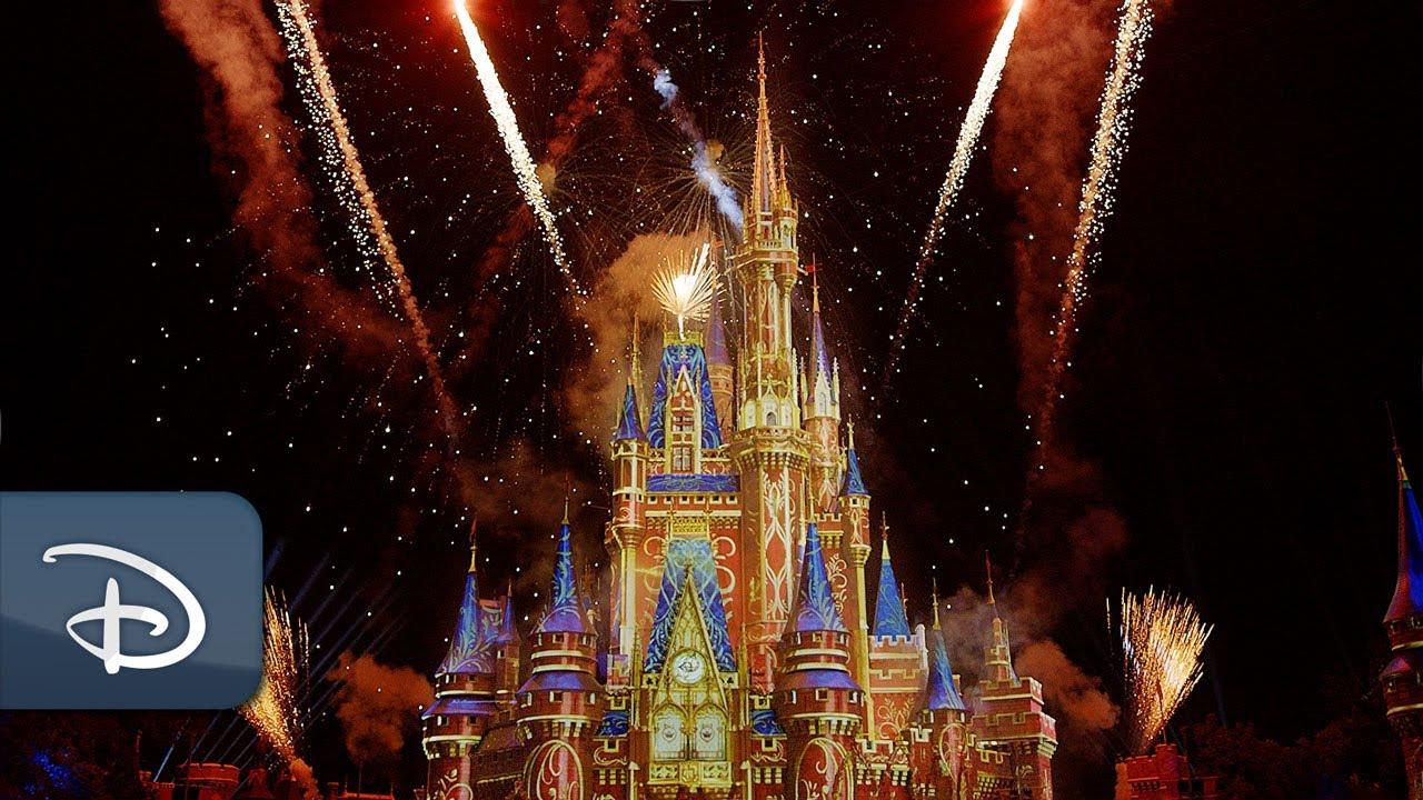 Disney World Florida Cinderella Castle Virtual Fireworks