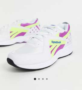Reebok Pyro White and Yellow Trainers now £22 + £4 delivery at asos. Free delivery over £35 or free with premier