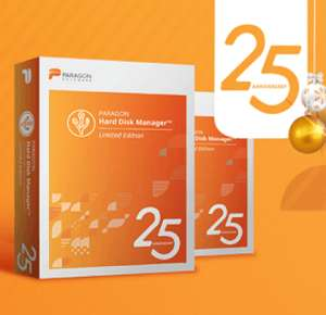 PARAGON Hard Disk Manager 25th Anniversary Limited Edition - Free @ Paragon Software