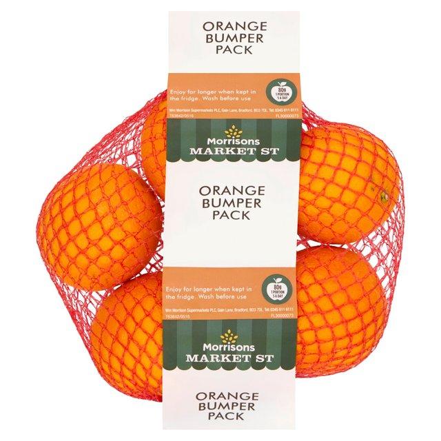 Morrisons Market St Orange Bumper Pack 5 Pack 59p / Nairns Oat Bar Cacao & Orange Bars 4 x 40g 60p @ Morrisons
