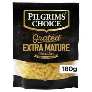 Pilgrims Choice Extra Mature Grated Cheddar 180g - £1 @ Morrisons