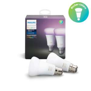 Philips - 50% off various White and Colour Ambience products with code email invite only - Dual Pack B22 £42.99 + £2.99 p&p Philips Shop