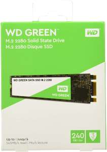 WD Green 240 GB Internal SSD M.2 SATA - £33.48 free delivery with Amazon