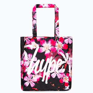 Hype Pink Floral Tote Bag - 41cms x 34.5cms x 15cm - £7.99 + Free Delivery Using Code @ Just Hype