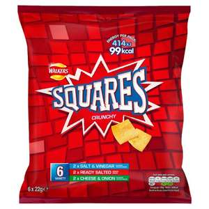 Walkers Squares Variety 6 Pack @ Heron Foods - Kingston Upon Hull - 69p