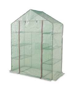Gardenline Walk In Greenhouse with six shelves and Heavy duty cover + 3 Year Warranty £24.99 delivered @ Aldi