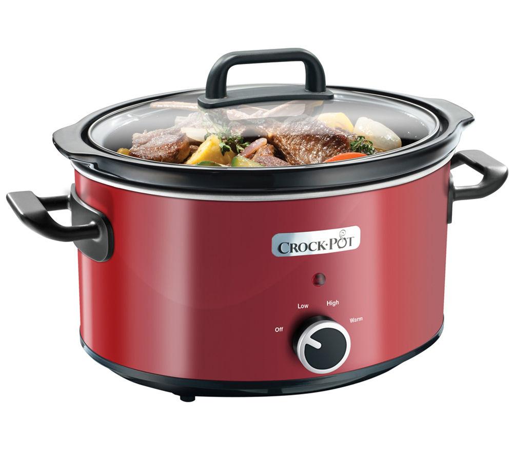 CROCK-POT SCV400RD Slow Cooker - Red £21 delivered at Currys PC World
