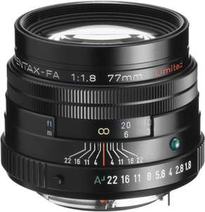 PENTAX 77mm f/1.8 Limited, black £687.60 at Amazon