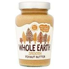 Whole Earth Peanut Butter 454g, £2 at Tesco (Min basket £40 + up to £4 delivery)