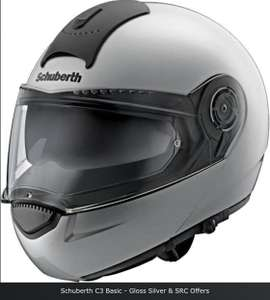 Schuberth C3 Basic Helmet in silver @ Helmetcity for £199