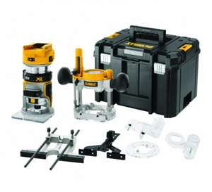 "Dewalt DCW604NT 18V XR Brushless ¼"" Router With Fixed & Plunge Bases and Tstak case £250.98 tool_sense eBay"