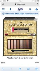 Boots max factor gift set £7 + £3.50 delivery at Boots. Student discount 10% off!!!