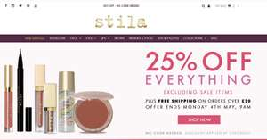 25% off Everything (exc. sale) @ Stila - Free shipping over £20 - No code required