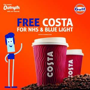 NHS & Blue Light Card holders can receive a free Costa drink @ Gulf Petrol Stations