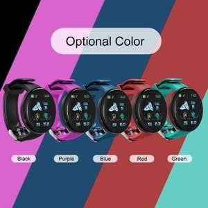 Smart watch (pedometer, heart rate, app notifications), choice of colours £8.93 delivered at Tomtop
