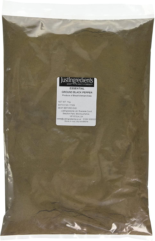 JustIngredients Essentials Black Pepper Ground 1 kg - £9.79 (Prime) + £4.49 (non Prime) at Amazon