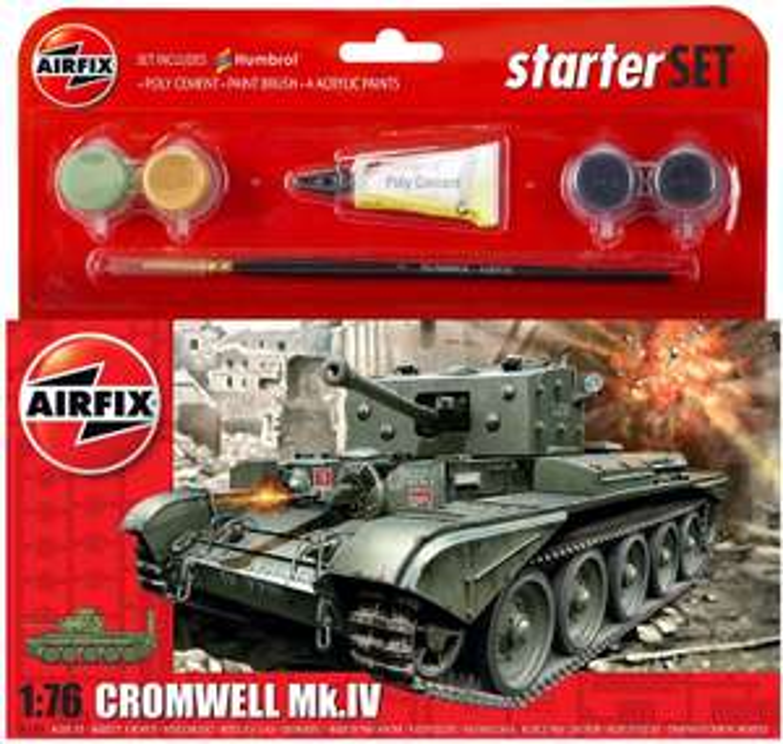 Airfix starter kit A55109 - Cromwell Mk.VI - £7.99 (+£4.49 non prime) @ Amazon