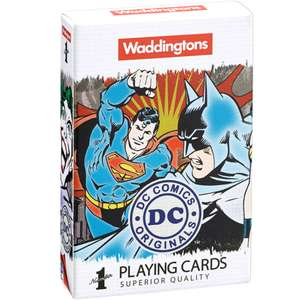 Waddingtons Number 1 Playing Cards - DC Superheroes Edition £3.49 delivered with code @ Zavvi