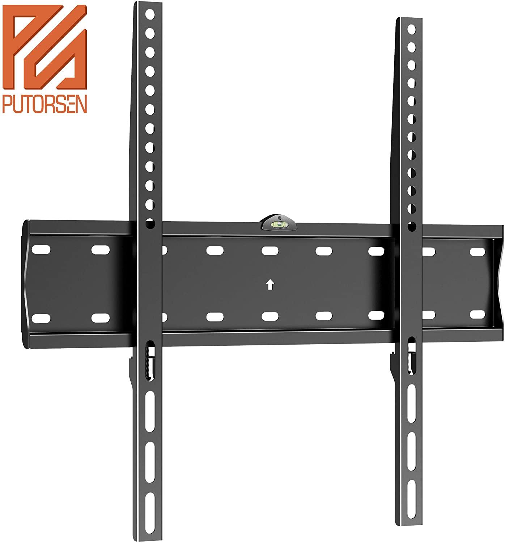 PUTORSEN® Integrated Spirit Level Fixed TV Wall Bracket Ultra Slim TV Wall Mount for 32-55 inch £12.02 (Prime) + £4.49 (non Prime) at Amazon