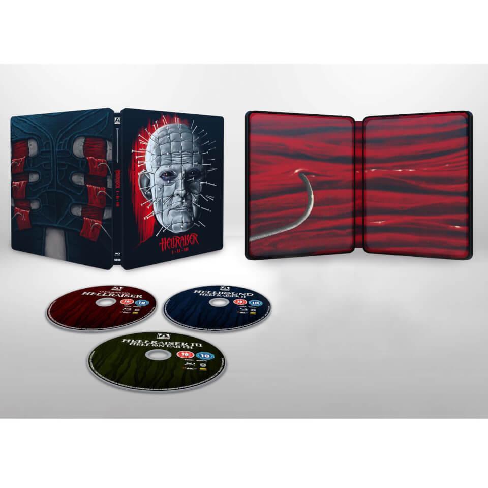 Hellraiser 1–3 - Zavvi Exclusive Steelbook (Includes Blu-ray) £17.99 (with code) @ zavvi