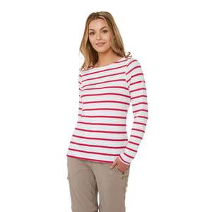 NosiLife Erin II Long-Sleeved Top - Winter Rose Stripe £18.00/ £21.95 Delivered From Craghoppers