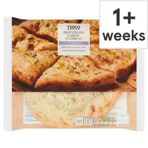 Garlic Flatbread 255G - £1 @ Tesco (Min basket £40 + up to £7 delivery)