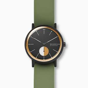 Skagen Signatur Green Silicone Field Watch £31.50 with code + Free Delivery at Skagen