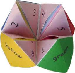 Origami Fortune Teller Game at DLTK's Crafts for Kids