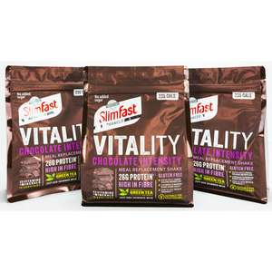 3 x Packs Slimfast Advanced Vitality Shake - Chocolate Intensity Flavour 1200g / 30 Servings £13 delivered @ Yankee Bundles