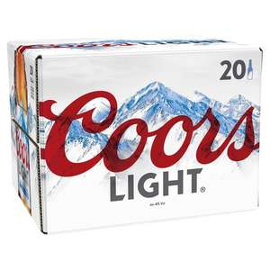 Coors Light 20 x 330ml £11.00 @ Morrisons (Min basket £40 + up to £5 delivery)