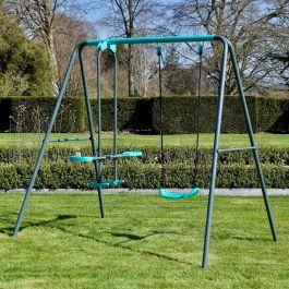 Rebo Children's Metal Garden Swing Set – Single Swing + Glider £99.95 delivered @ Outdoor Toys
