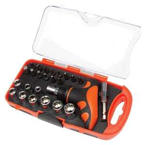 Top Tech 25 Pc Handy Socket Set in storage case - £2.99 + £3.99 Delivery (Free if £15+ spend) @ EuroCarParts