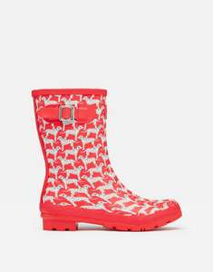Joules Womens Molly Mid Height Wellies - RED DALMATIAN @ Joules ebay store - £13.95
