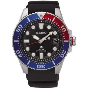 SEIKO PROSPEX Men's Pepsi Bezel Rubber Diver's Watch - Water Resistance 200m £210 @ Francis and gaye