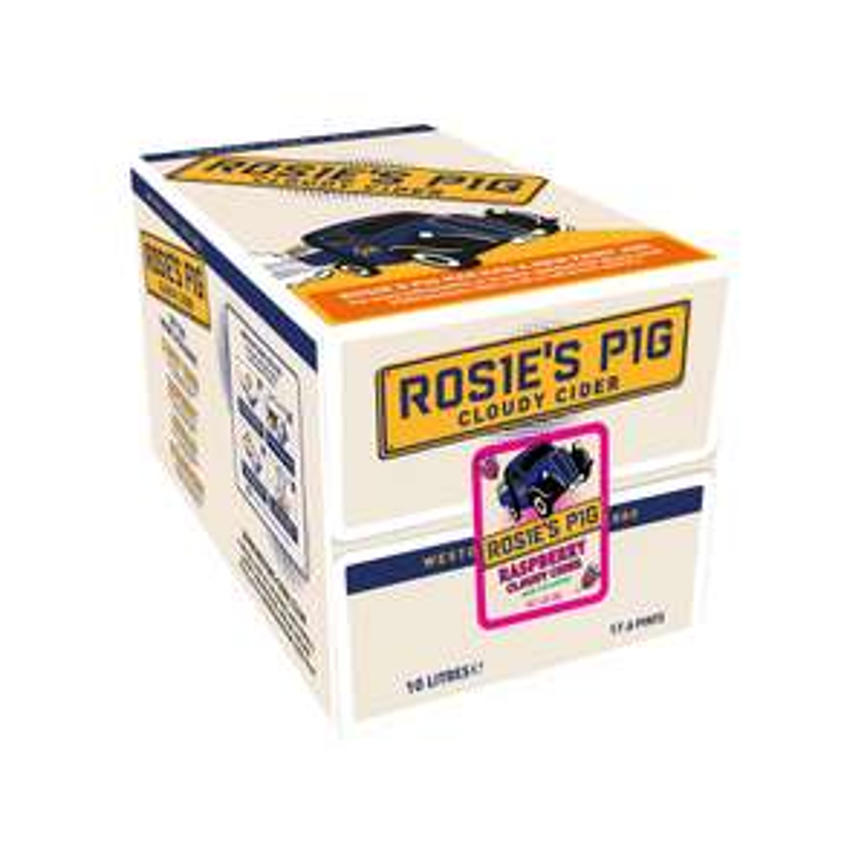 Rosie's Pig Cloudy Raspberry Cider 10L Bag £28 @ westons-cider