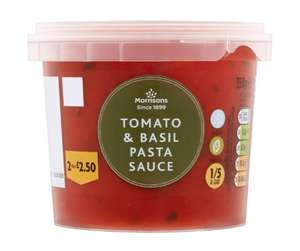 Morrisons fresh tomato and basil sauce 350g £1.50 reduced to 25p in Morrisons Newcastle under lyme
