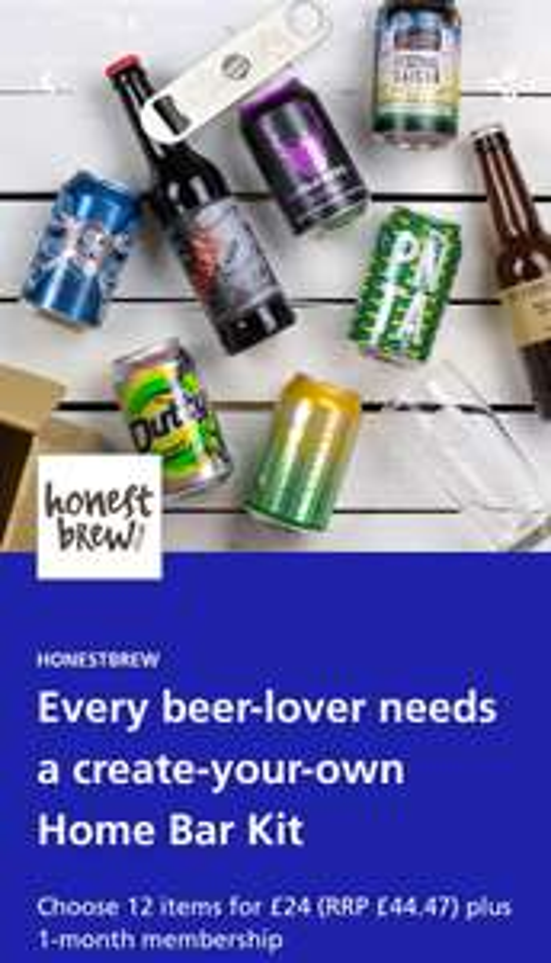 12 Items for £24 @ Honest Brew