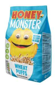 Honey Monster Wheat Puffs Cereal 500g £1.50 at B&M